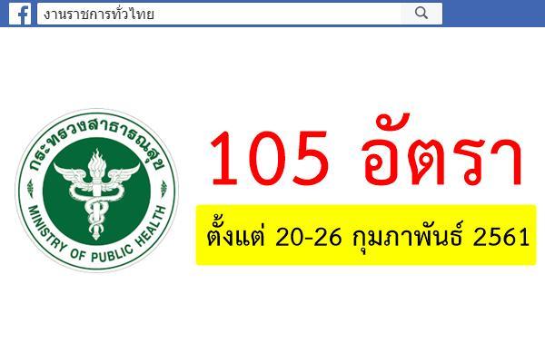 โรงพยาบาลมหาราชนครราชสีมา รับสมัครลูกจ้างชั่วคราว(รายเดือน) 105 อัตรา